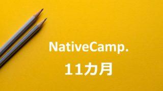 ネイティブキャンプ11ヵ月